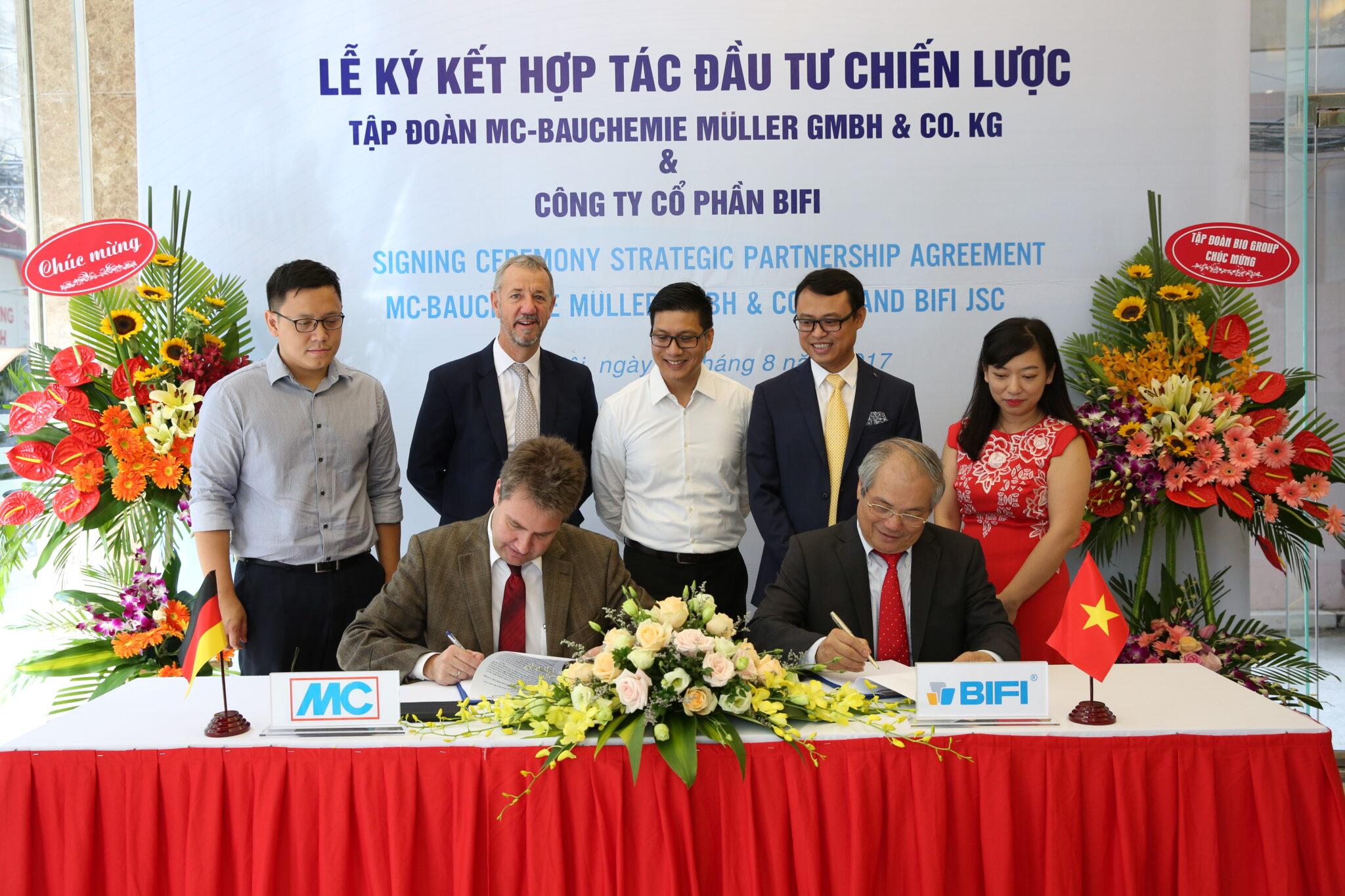 Ngày 8/11/2017, Lễ khai trương Công ty Cổ phần MC-BIFI Bauchemie đánh dấu bước hợp tác chính thức giữa doanh nghiệp trong nước là Công ty Cổ phần BIFI và Tập đoàn MC-Bauchemie đến từ CHLB Đức.